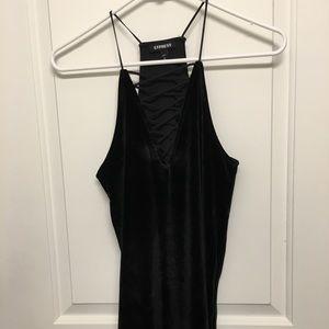 Express Black Velvet top